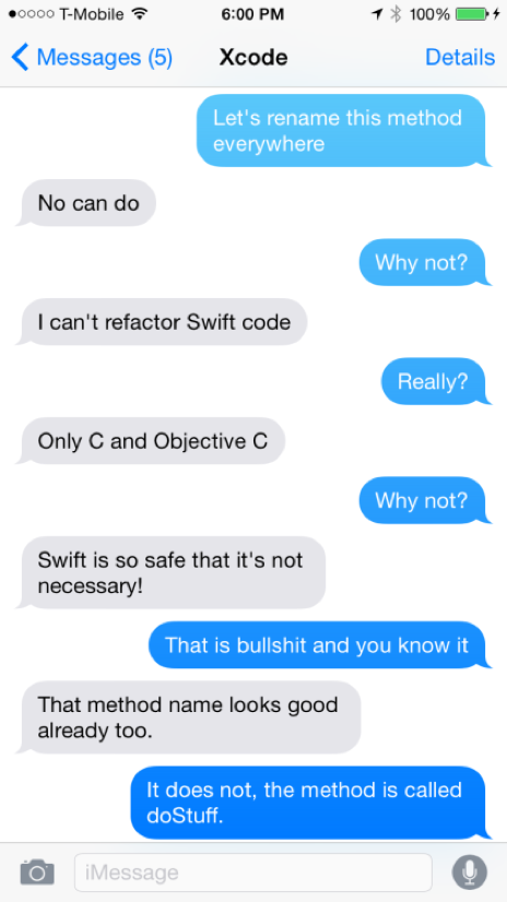 Swift Texts from Xcode